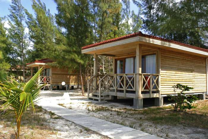 Accommodation in Cayo Levisa