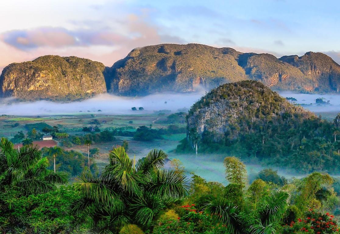 Mist over the Vinales Valley in Cuba