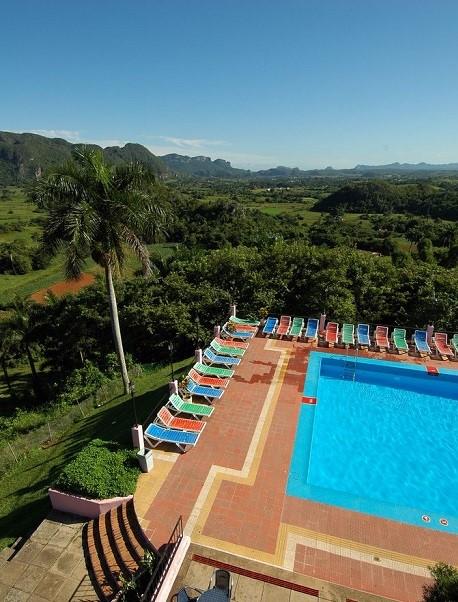 Cuba hotel view in Vinales