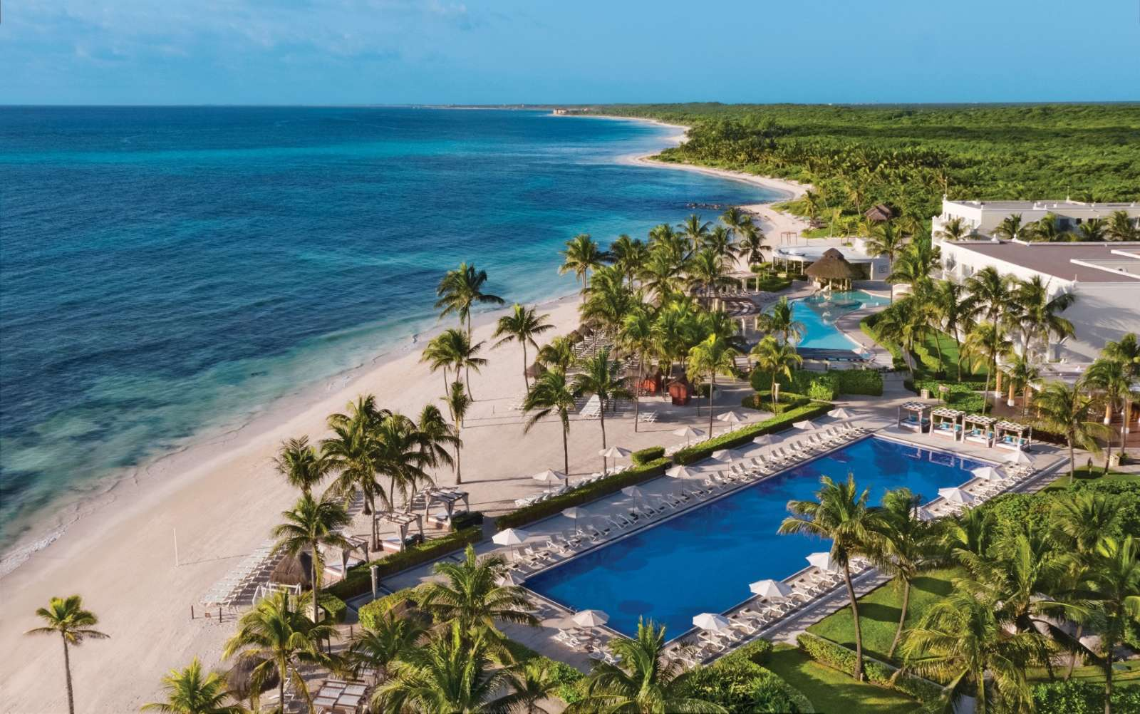 Aerial view of Dreams Tulum in Mexico