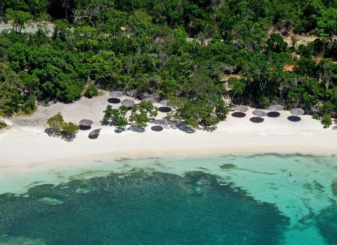 Aerial shot of one of Guardalavaca's beautiful beaches