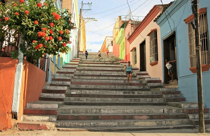 The Spanish steps at Santiago de Cuba