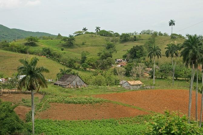 The Escambray Mountains between Trinidad and Santa Clara in Cuba