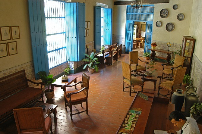 The lobby of El Comendador in Havana, Cuba