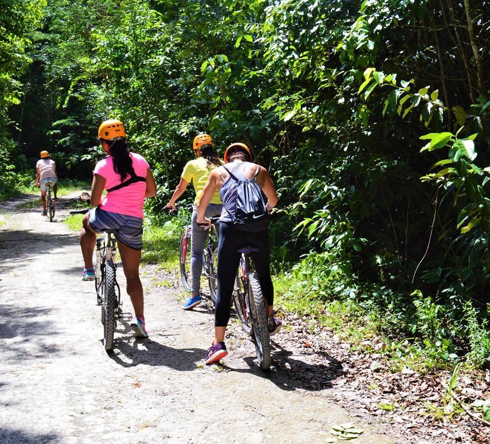 Cycling at Explorean Kohunlich