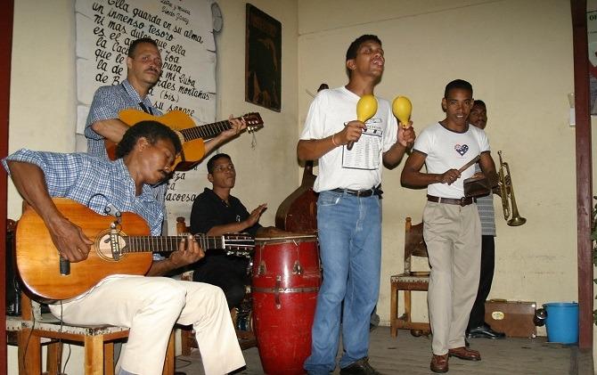 A band in Baracoa, Cuba