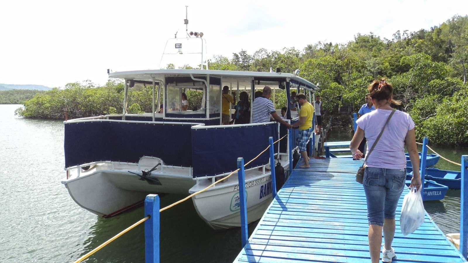 Tourist excursion boat in Guardalavaca
