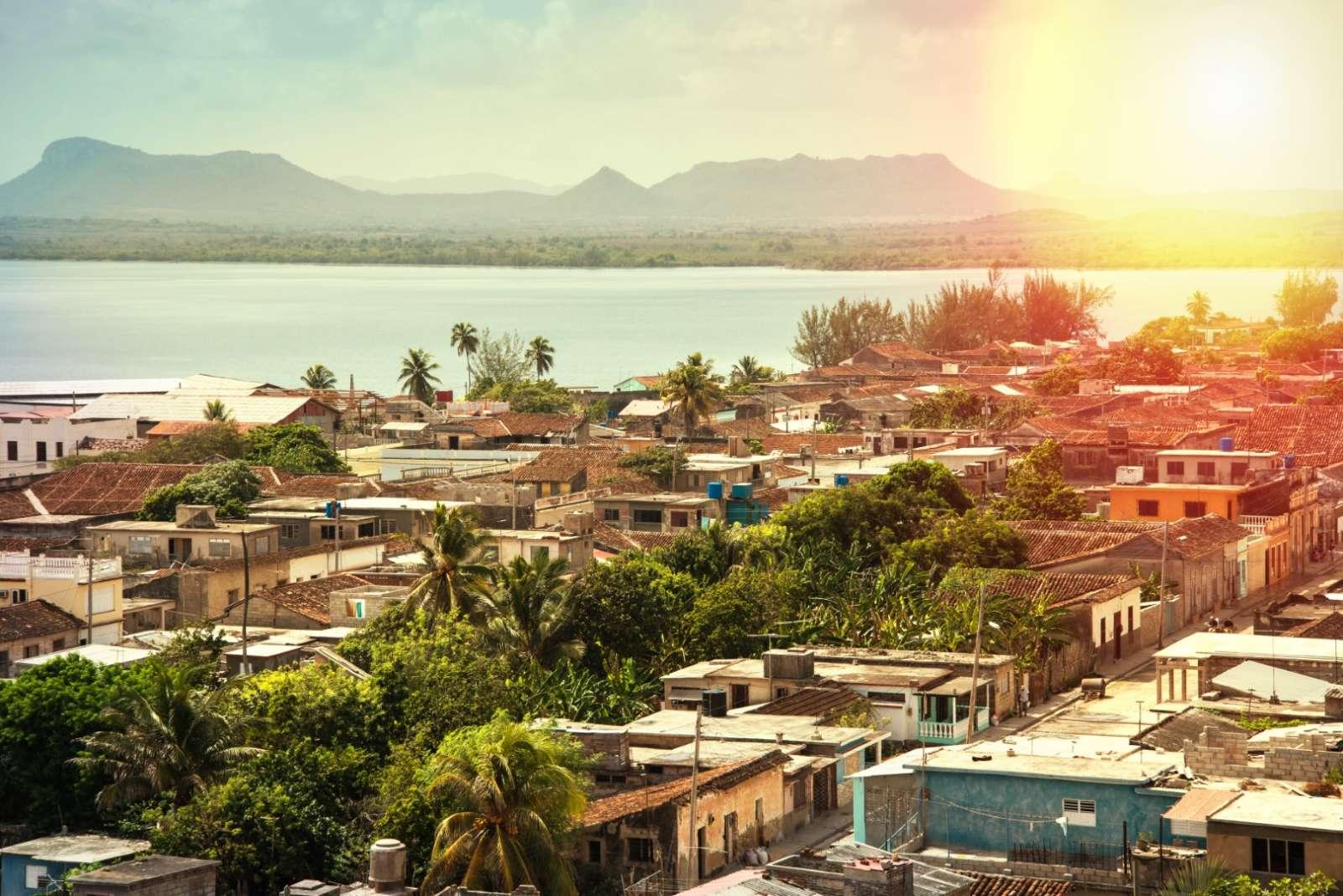 Panoramic view over the town of Gibara, near Guardalavaca in Cuba