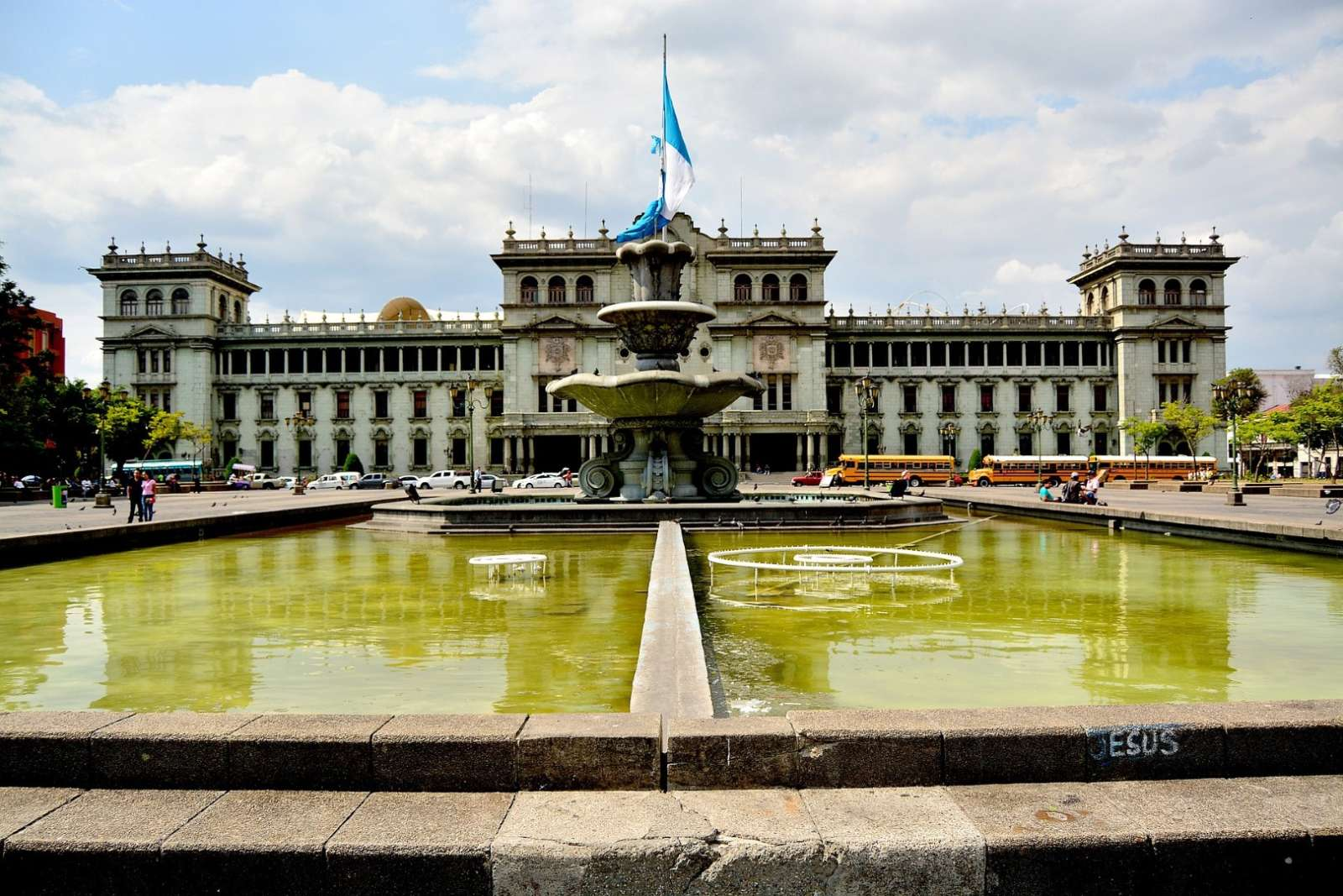 Guatemala City Main Square Fountain