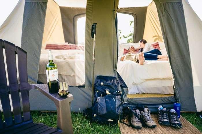 Luxury camping in Guatemala