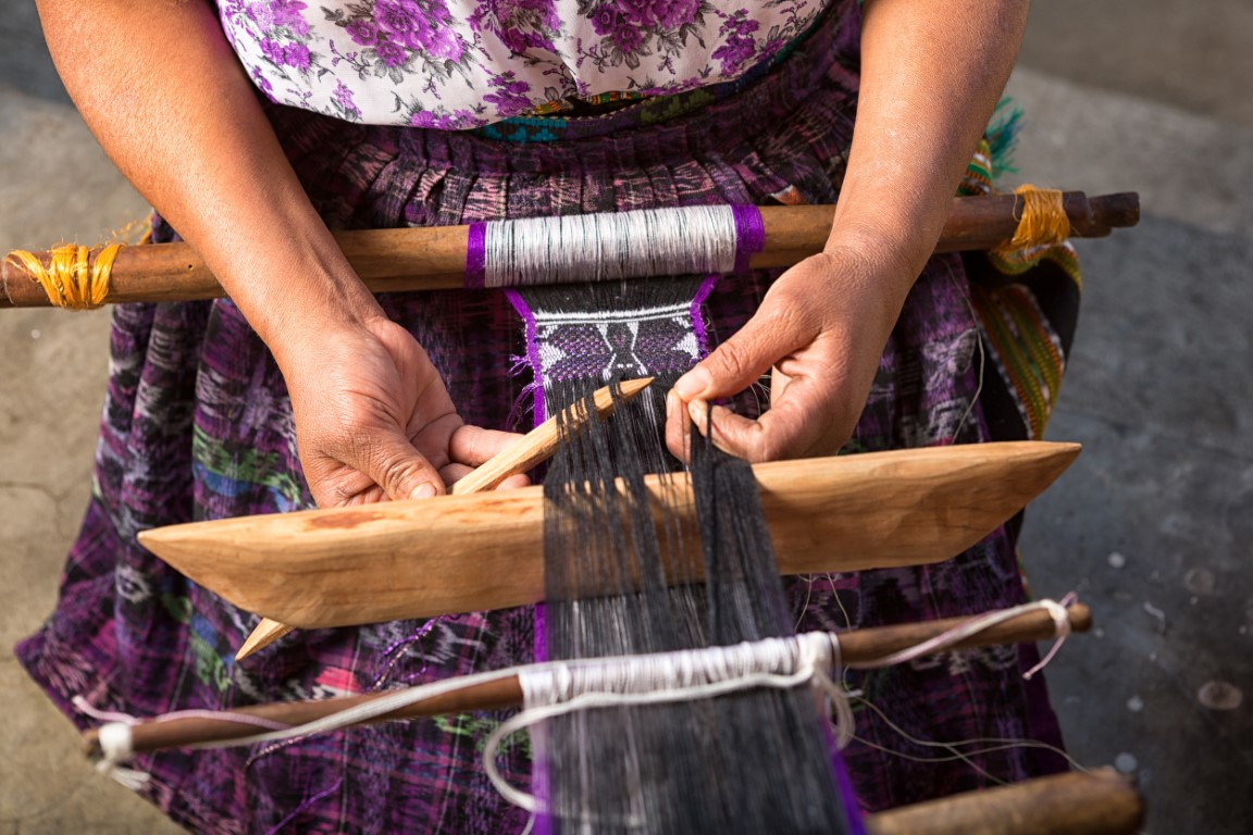 Traditional weaving in Guatemala