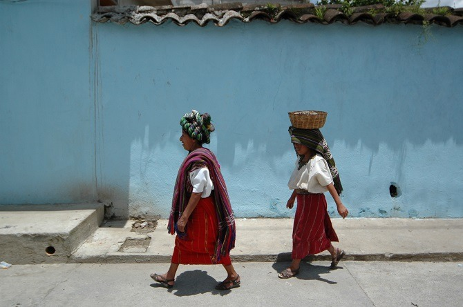 Tribal women in the Guatemalan Highlands
