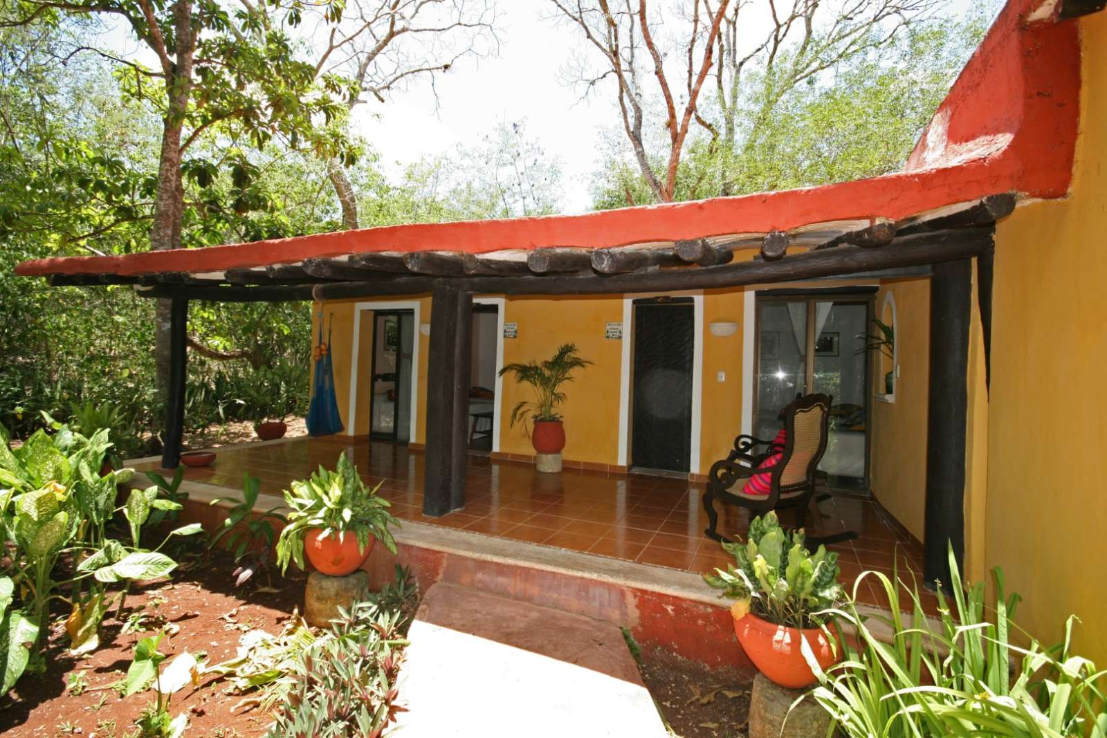 Bungalow accommodation at Hacienda Chichen Itza