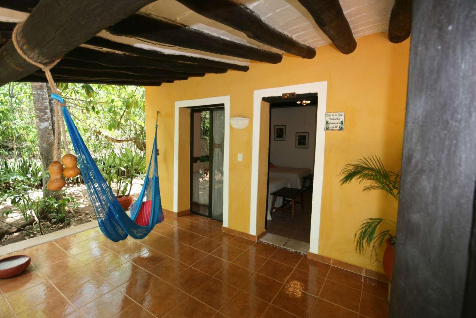 Hammock outside room at Hacienda Chichen Itza