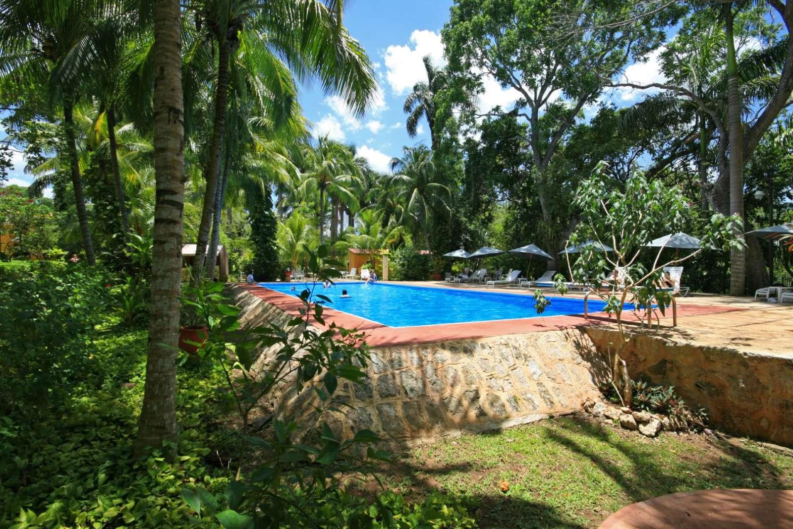 Swimming pool at Hacienda Chichen Itza