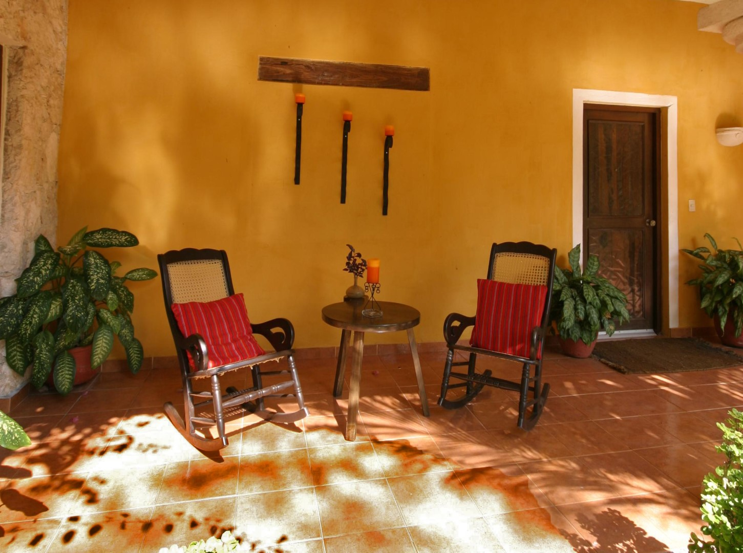 Rocking chairs at Hacienda Chichen Itza