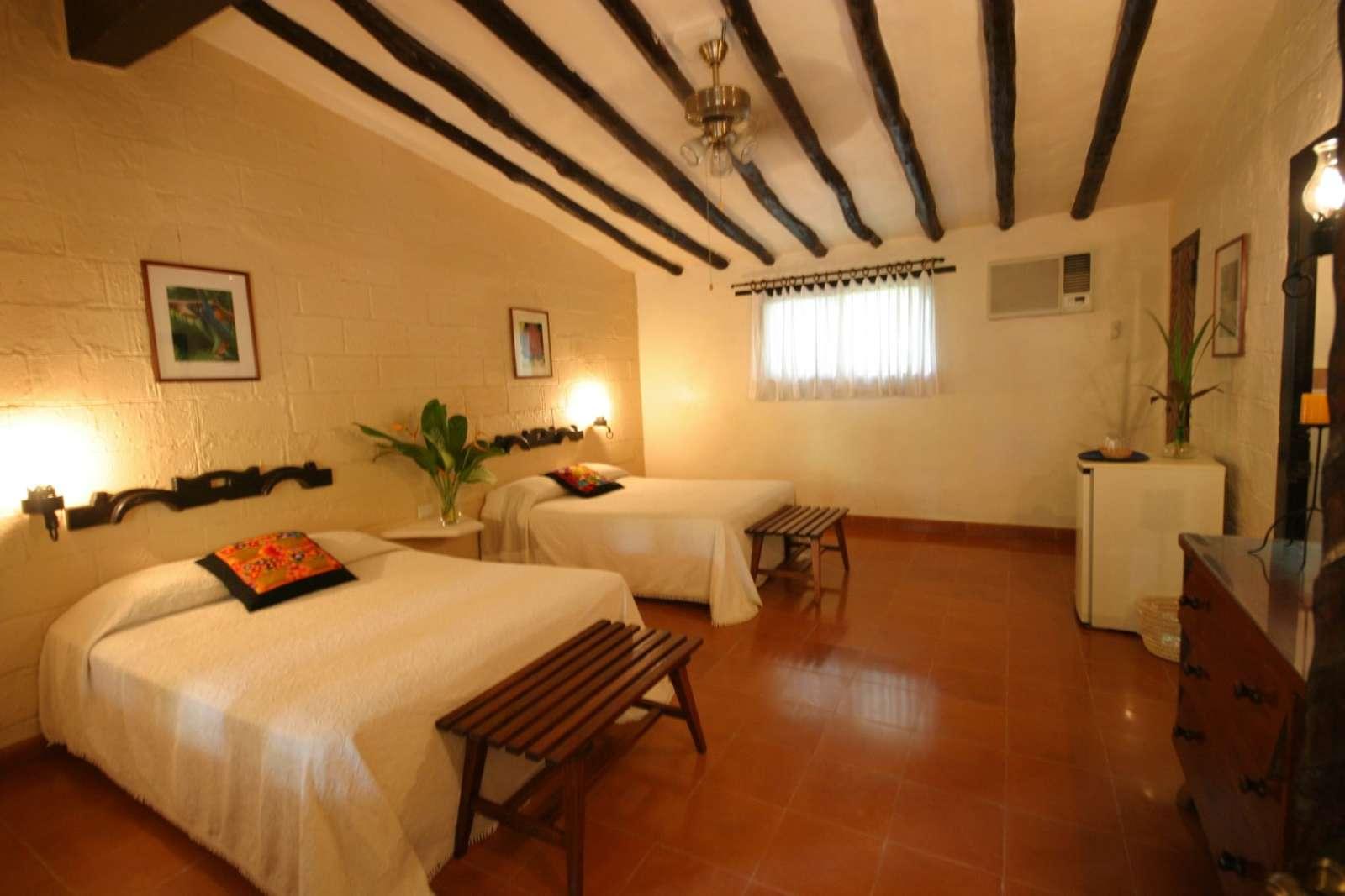 Twin room at Hacienda Chichen Itza