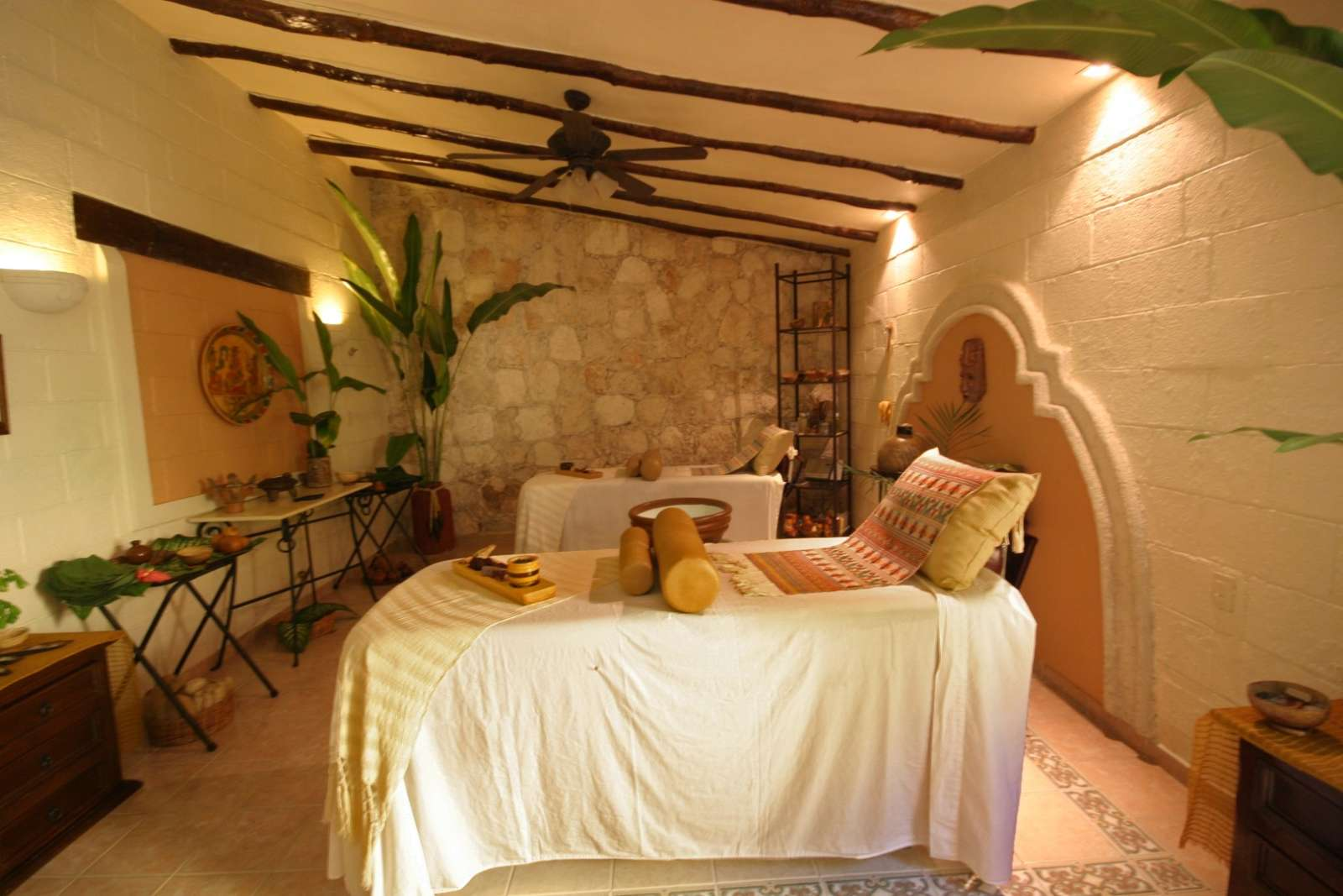 Treatment room at Hacienda Chichen Itza