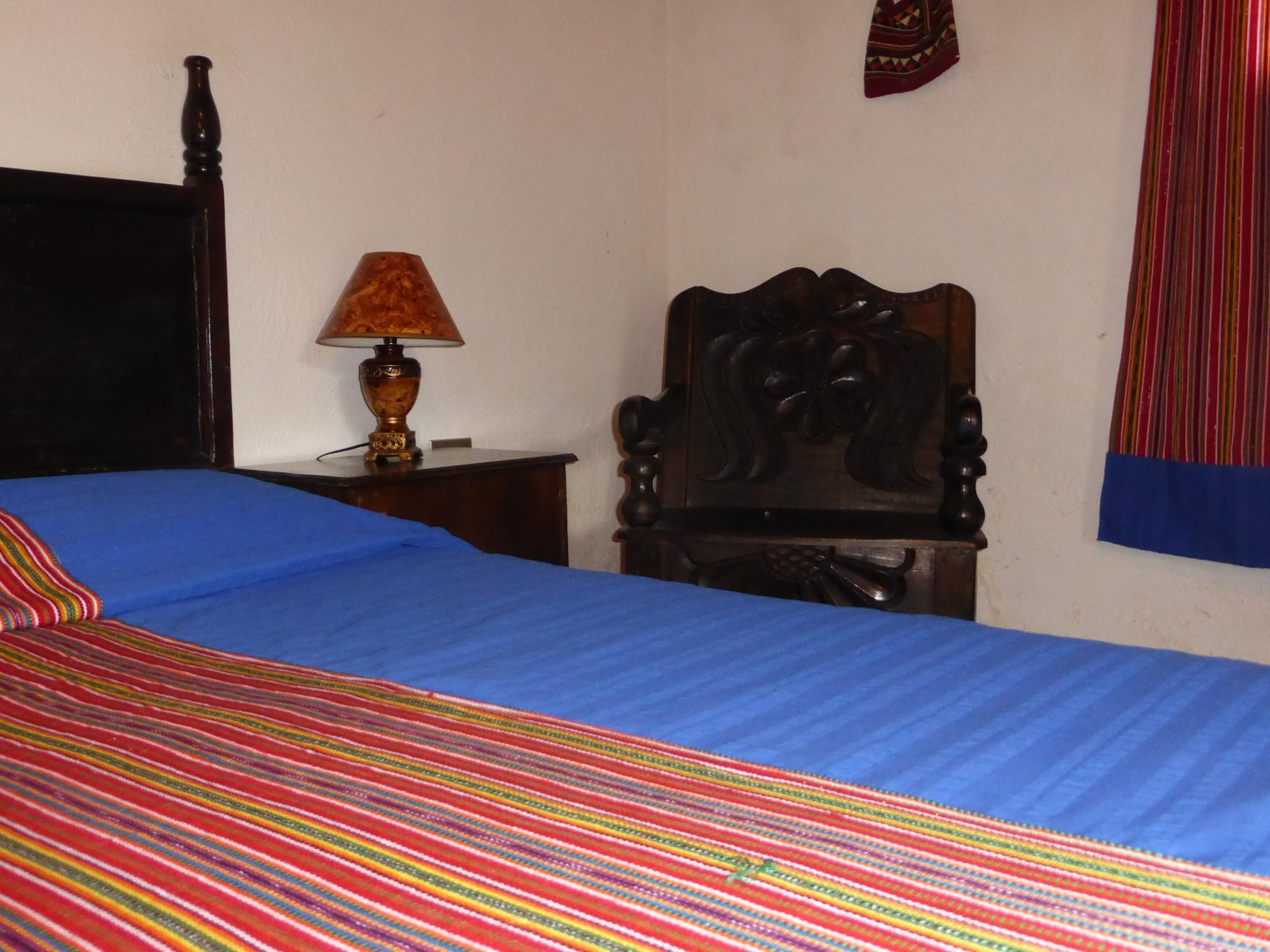 Bed at Hacienda Mil Amores in Ixil Triangle, Guatemala