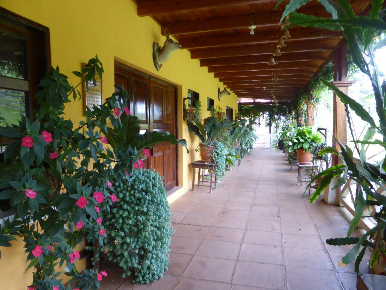 Corridor at Hacienda Mil Amores in Ixil Triangle, Guatemala