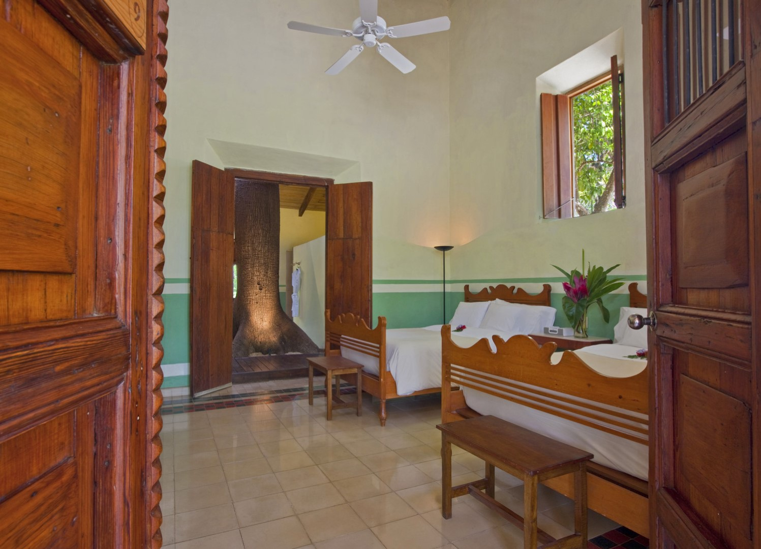 Twin bedroom at Hacienda San Jose