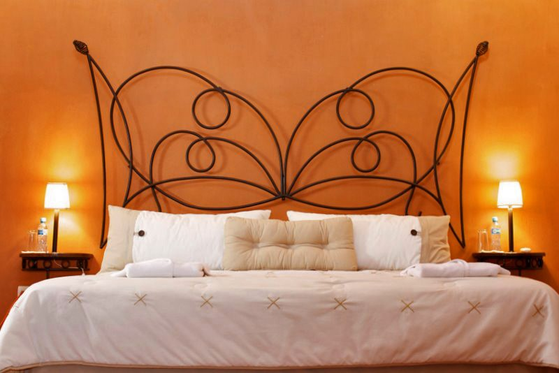 Double bed at Hacienda Santa Cruz
