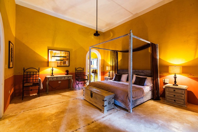 Large room at Hacienda Ticum near Izamal