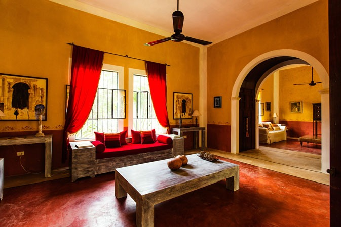 Interior lounge of Hacienda Ticum near Izamal