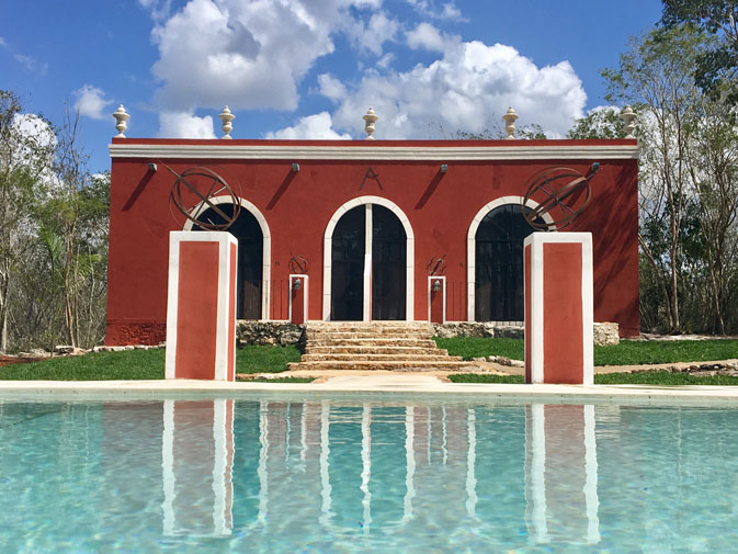 Swimming pool at Hacienda Ticum near Izamal