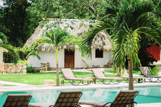 Pool bungalow at Hacienda Ticum near Izamal