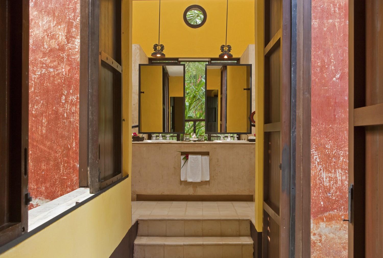 Bathroom at Hacienda Uayamon Campeche