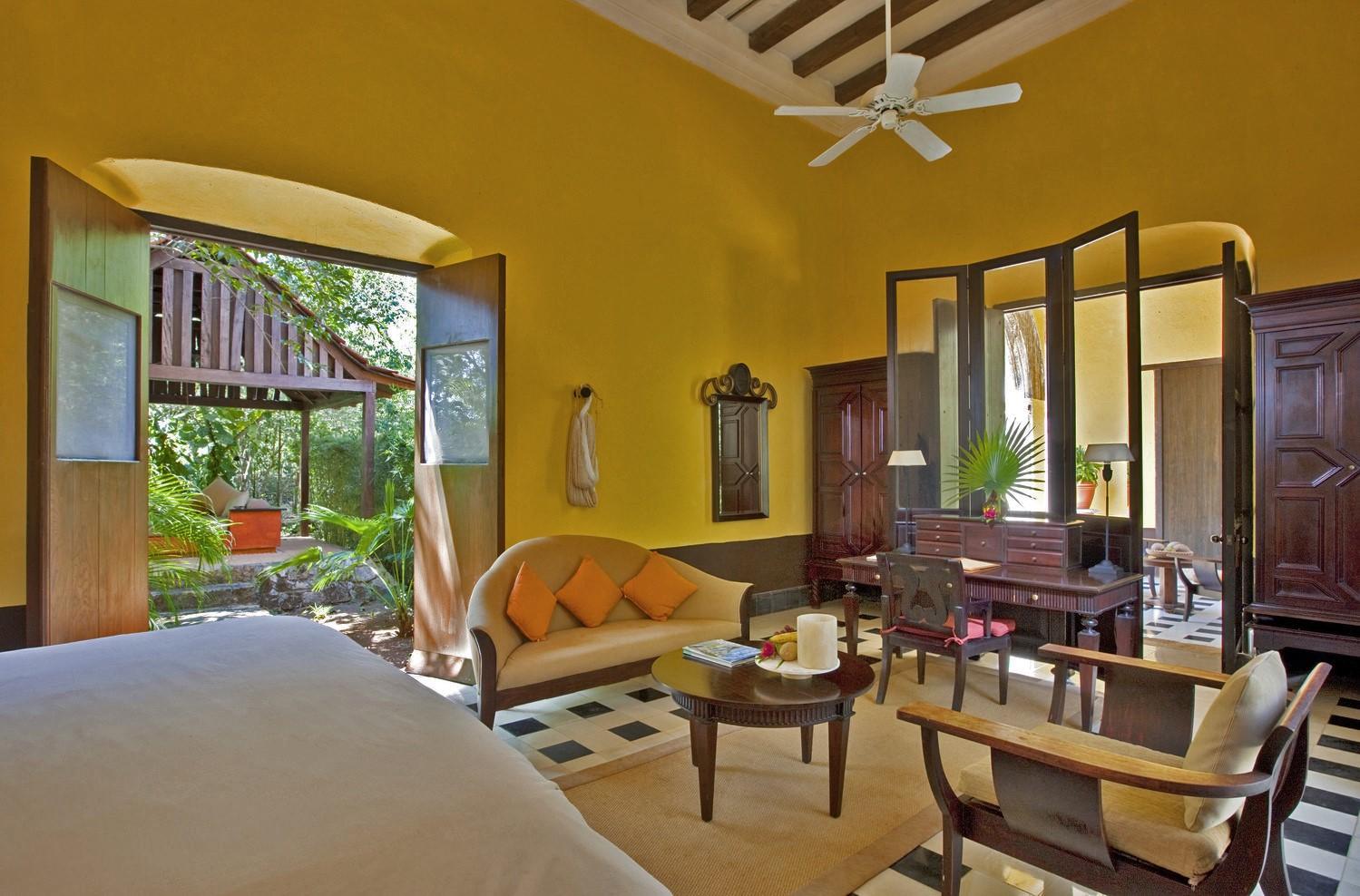 Double room at Hacienda Uayamon Campeche