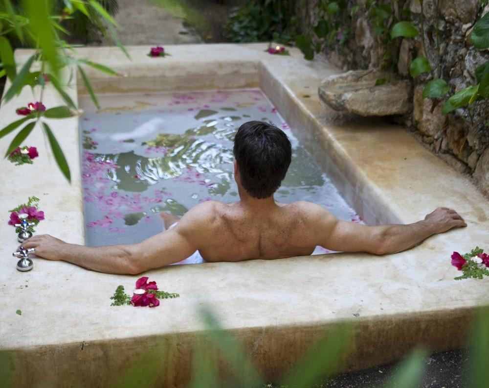Plunge pool at Hacienda Uayamon Campeche