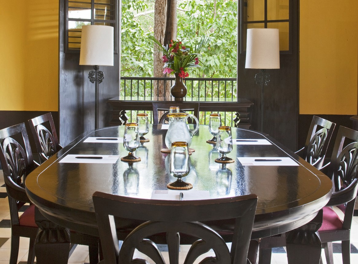 Table at Hacienda Uayamon Campeche