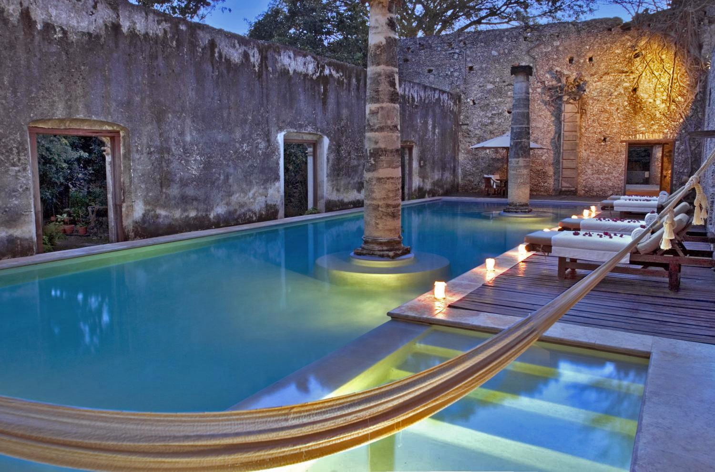 Swimming pool at Hacienda Uayamon Campeche
