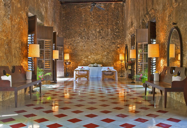Treatment room at Hacienda Uayamon Campeche