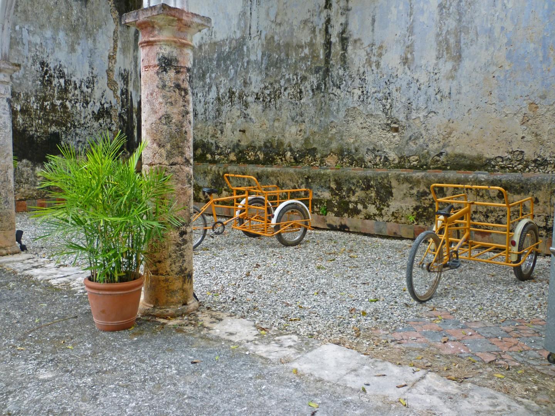 Trikes at Hacienda Uayamon Campeche