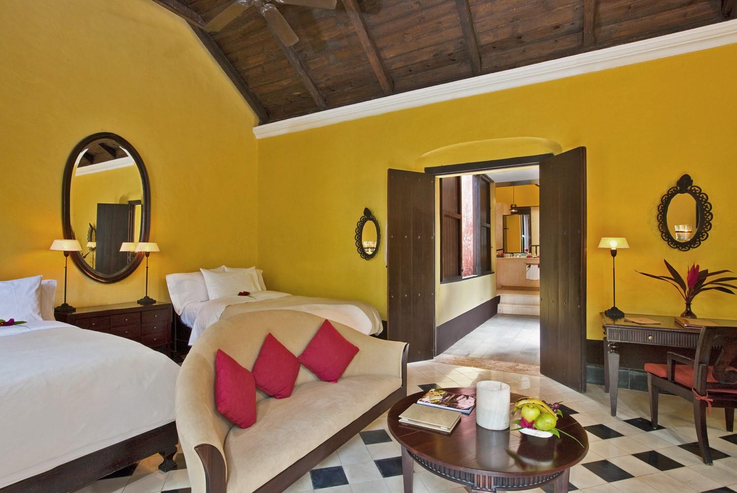 Twin room at Hacienda Uayamon Campeche