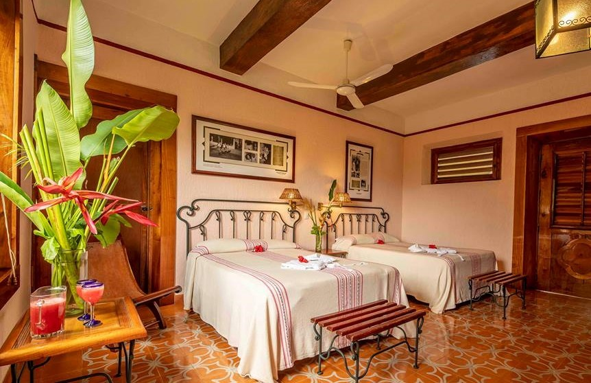 Twin bedroom at Hacienda Uxmal