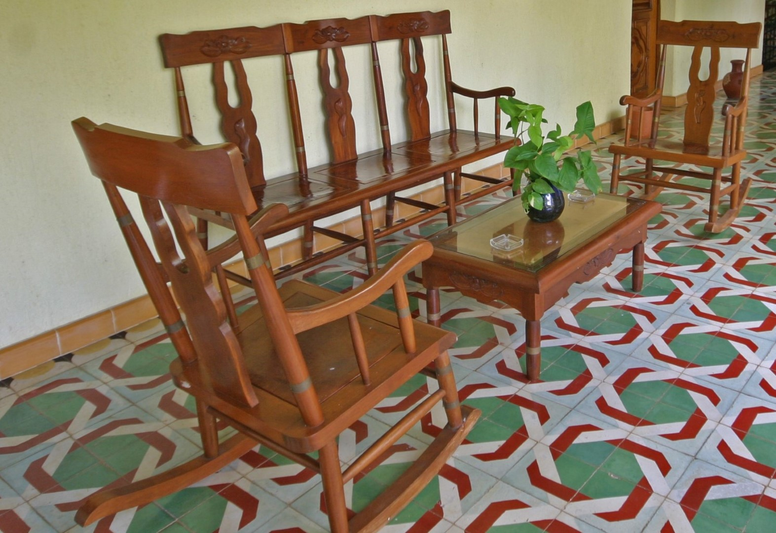 Rocking chairs at Hacienda Uxmal