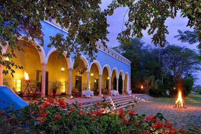 Typical hacienda in the Yucatan Peninsula