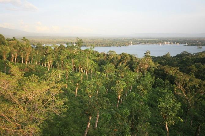View of Laguna Izabal from Hacienda Tijax
