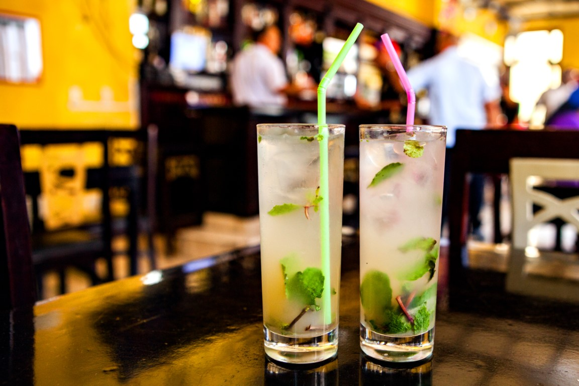 Mojitos at a bar in Havana