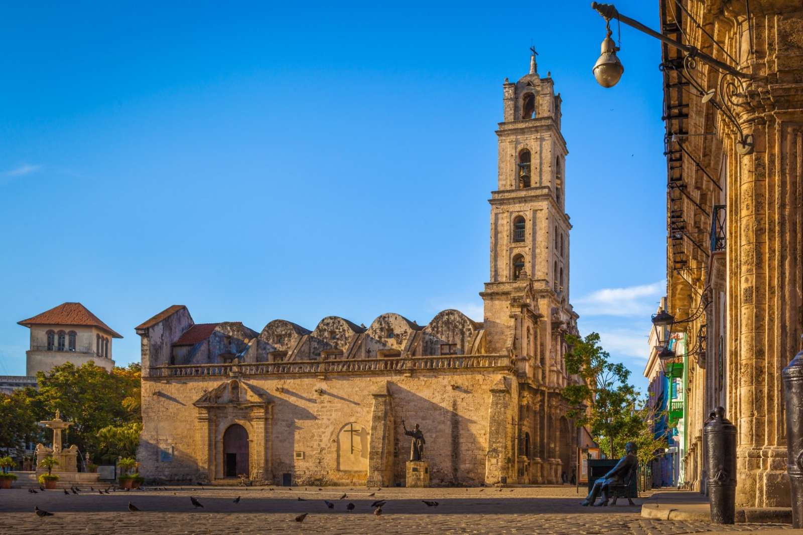 Basilica and Monastery Of San Francisco in Old HavanaDe Asis (or Saint Francis Of Assisi) In San Francisco Square, Old Havana, Cuba