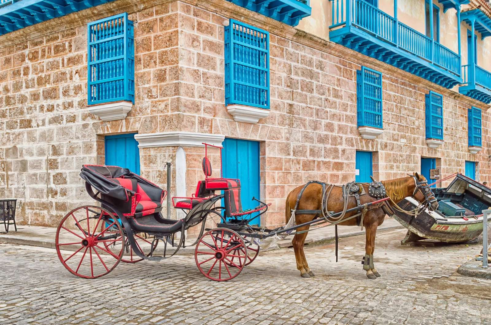 Horse and carriage in Old Havana, Cuba
