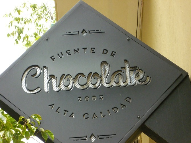 The chocolate shop in Old Havana