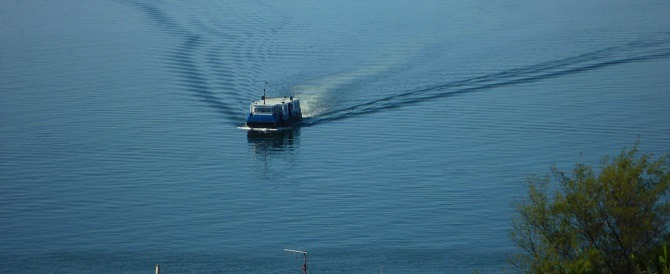 A ferry crossing Havana habrour