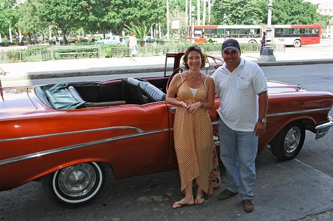 Classic car and driver / guide in Havana, cuba