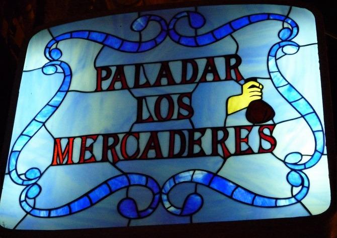 Paladar los Mercaderes sign in Havana