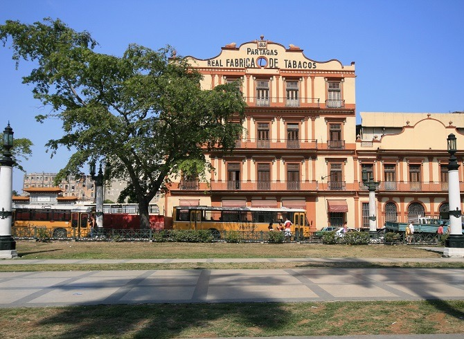 The Partagas Cigar factory in Old Havana
